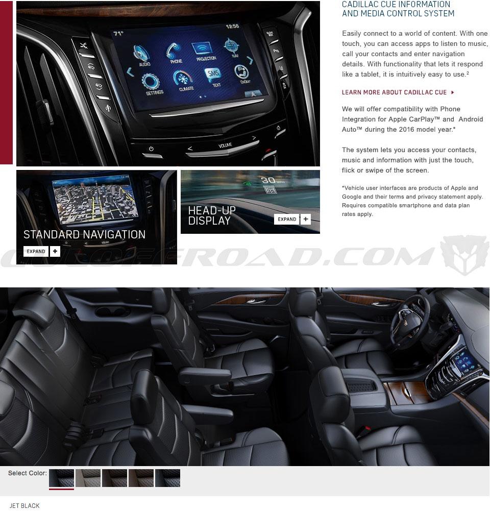 Conectividad Interior Cadillac Escalade España