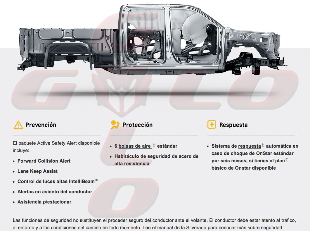 Seguridad Chevrolet Silverado 1500 España